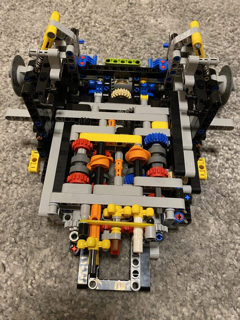 Lego Bugatti Chiron - das Getriebe