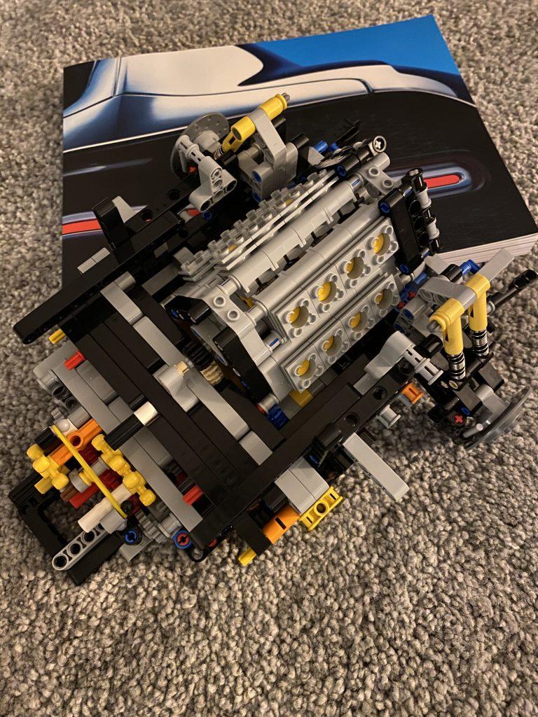Lego Bugatti Chiron - Motor inkl. Anleitung