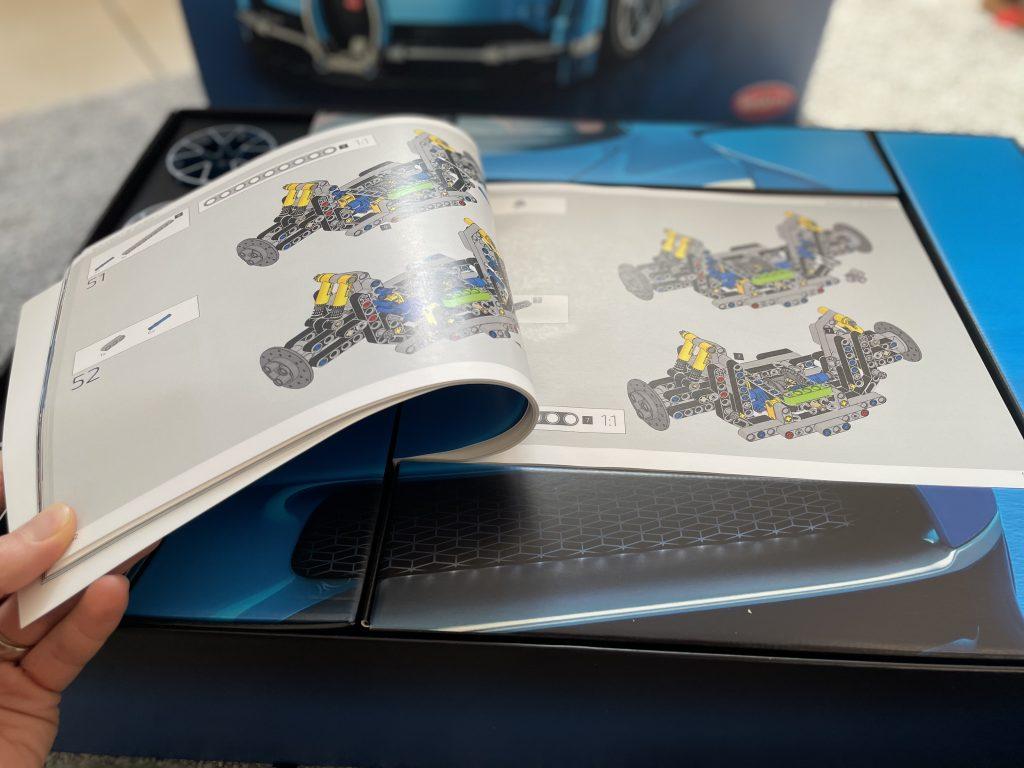 Anleitung zum Bau des Lego Bugatti Chiron