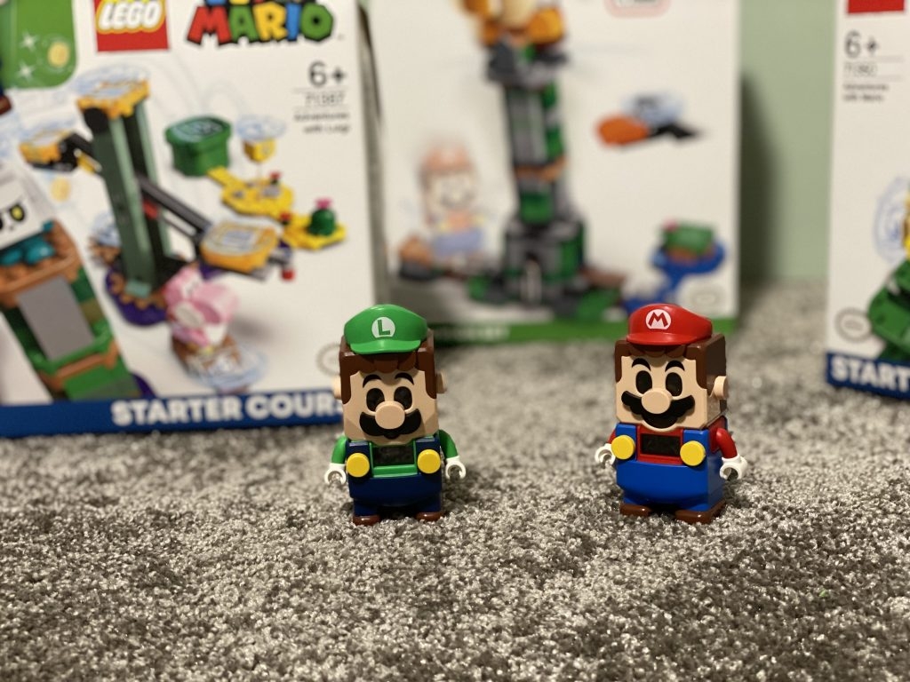 Mario und Luigi als LEGO-Figur